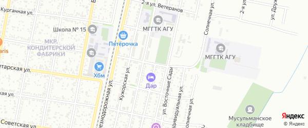 Крестьянская 2-я улица на карте Майкопа с номерами домов