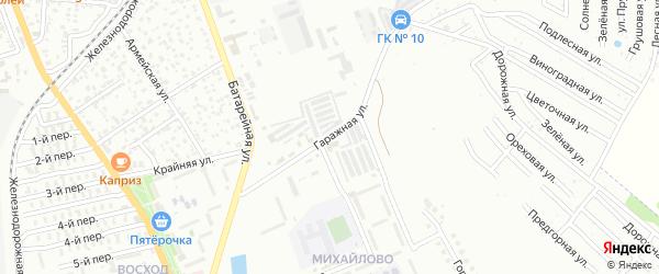 Гаражная улица на карте Майкопа с номерами домов