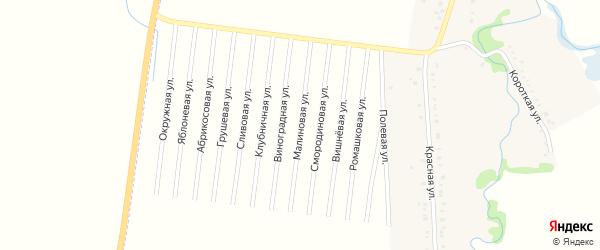Малиновая улица на карте садового некоммерческого товарищества Текстильщика с номерами домов