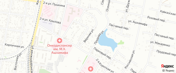 Верхняя улица на карте Майкопа с номерами домов