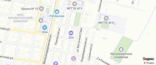 Кооперативная улица на карте Майкопа с номерами домов