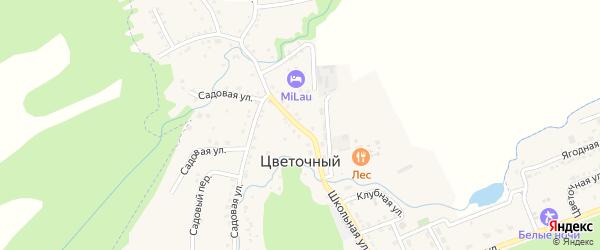 Школьная улица на карте Цветочного поселка с номерами домов