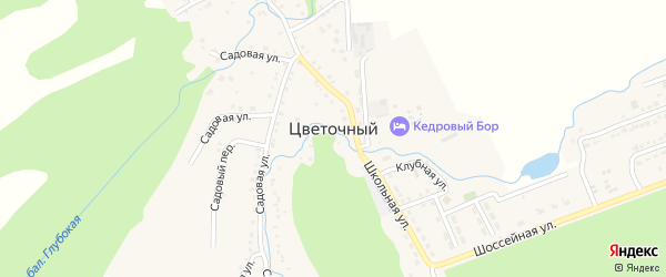 Солнечная улица на карте Цветочного поселка с номерами домов