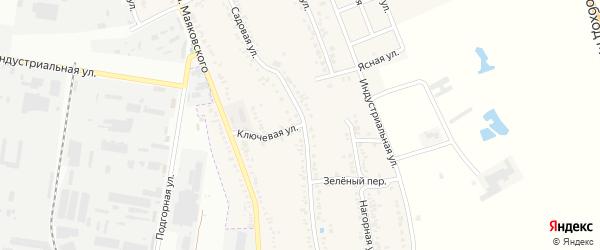 Ключевая улица на карте Майкопа с номерами домов