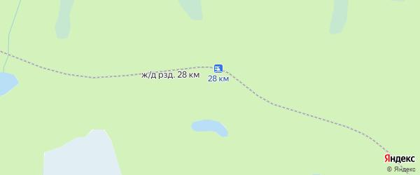 Карта железнодорожного разъезда 28 км в Архангельской области с улицами и номерами домов