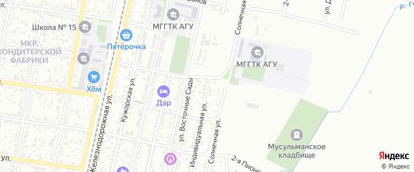 Индивидуальная улица на карте Майкопа с номерами домов