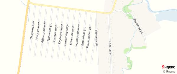 Ромашковая улица на карте садового некоммерческого товарищества Малиновки с номерами домов