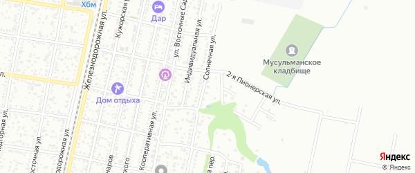 Солнечная улица на карте садового некоммерческого товарищества Коммунальника 2 с номерами домов