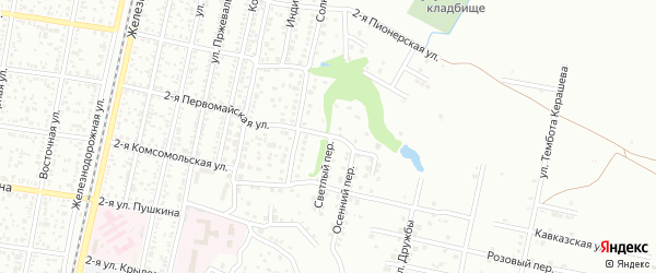 Светлый переулок на карте Майкопа с номерами домов