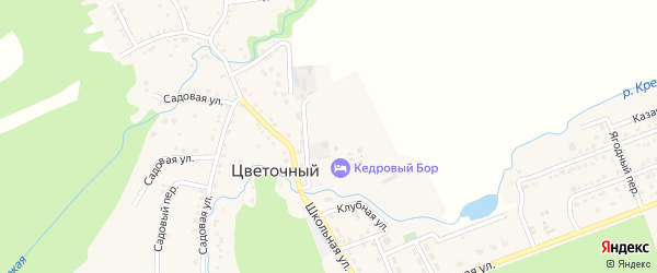 Северная улица на карте Цветочного поселка с номерами домов