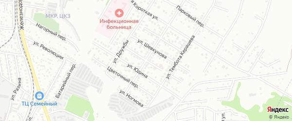 Привольный переулок на карте Майкопа с номерами домов