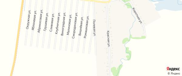Сиреневая улица на карте садового некоммерческого товарищества Веры с номерами домов