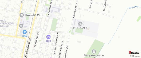 Солнечная улица на карте садового некоммерческого товарищества Машиностроителя с номерами домов