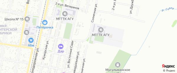 Солнечная улица на карте Майкопа с номерами домов