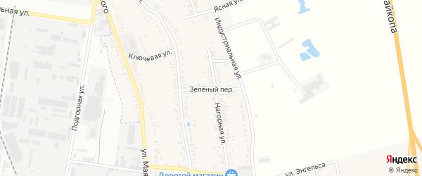 Зеленый переулок на карте хутора Северо-Восточные Садов с номерами домов