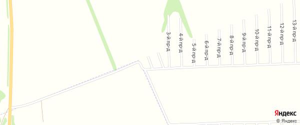 1-й проезд на карте садового некоммерческого товарищества Строителя с номерами домов