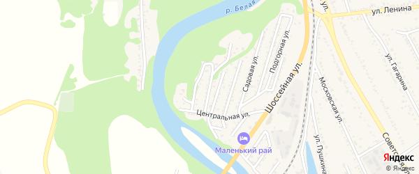 Луговая улица на карте Совхозного поселка с номерами домов