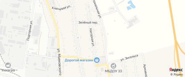 Нагорная улица на карте садового некоммерческого товарищества Юга с номерами домов