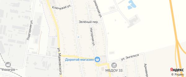 Нагорная улица на карте хутора Северо-Восточные Садов с номерами домов