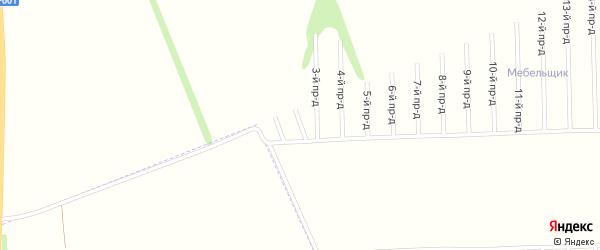 2-й проезд на карте садового некоммерческого товарищества Строителя с номерами домов