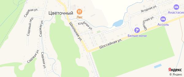 Улица Буденного на карте Цветочного поселка с номерами домов