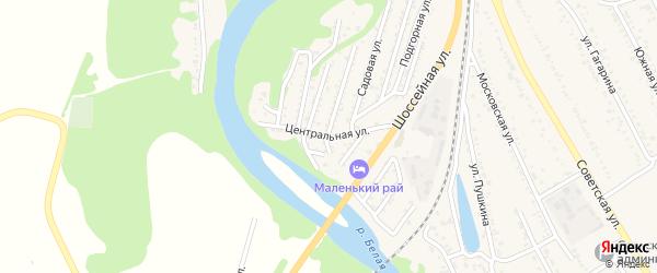 Центральная улица на карте Совхозного поселка с номерами домов