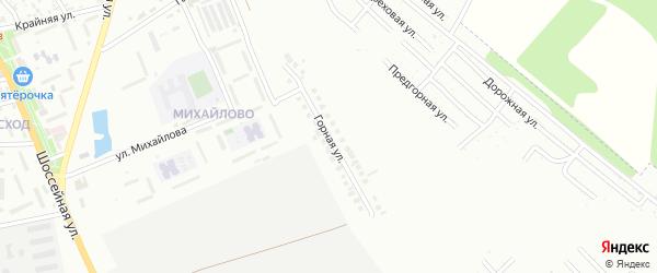 Горная улица на карте Майкопа с номерами домов