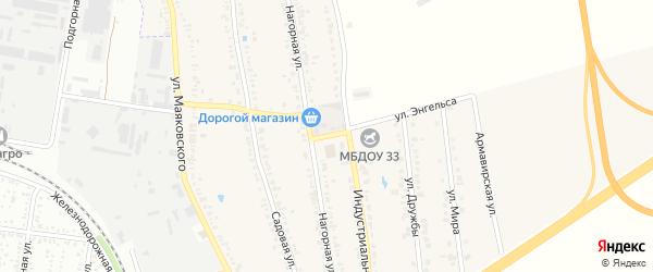 Улица Энгельса на карте хутора Северо-Восточные Садов с номерами домов