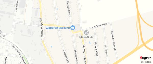 Улица Энгельса на карте Майкопа с номерами домов