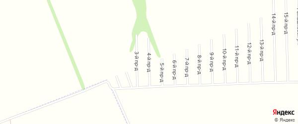 4-й проезд на карте садового некоммерческого товарищества Строителя с номерами домов