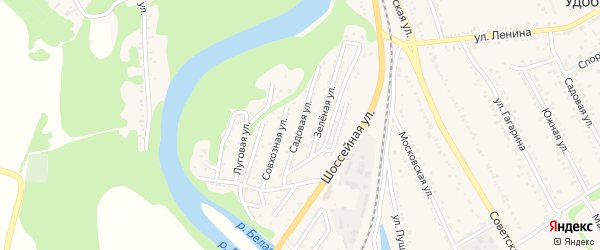 Садовая улица на карте Совхозного поселка с номерами домов