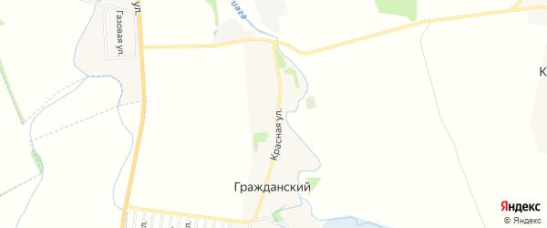 Карта Гражданского хутора в Адыгее с улицами и номерами домов