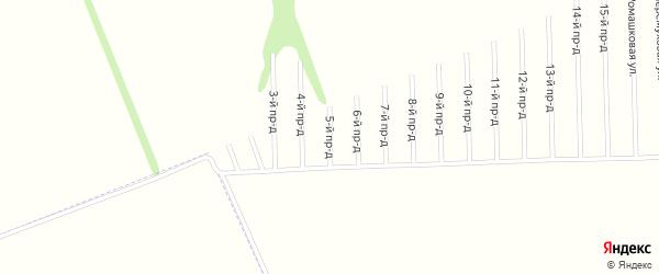 5-й проезд на карте садового некоммерческого товарищества Мебельщика с номерами домов