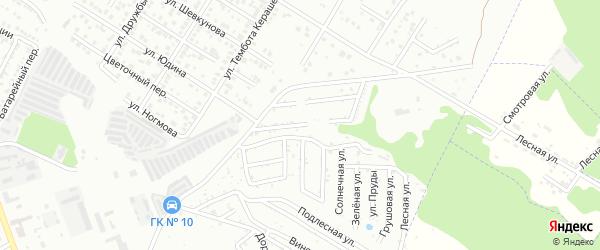 Центральная улица на карте садового некоммерческого товарищества Приречного с номерами домов