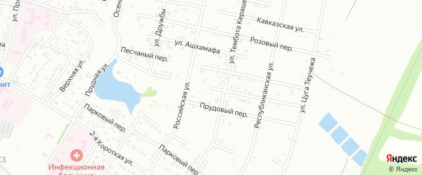 Улица А.Макаренко на карте Майкопа с номерами домов