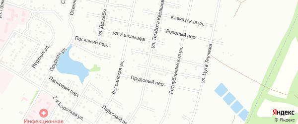 Улица Т.Керашева на карте Майкопа с номерами домов
