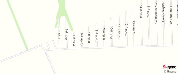 7-й проезд на карте садового некоммерческого товарищества Мебельщика с номерами домов