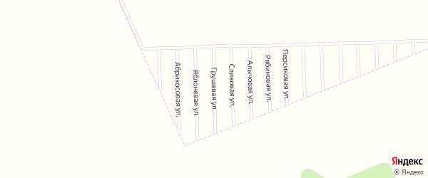 Грушевая улица на карте садового некоммерческого товарищества Урожая с номерами домов
