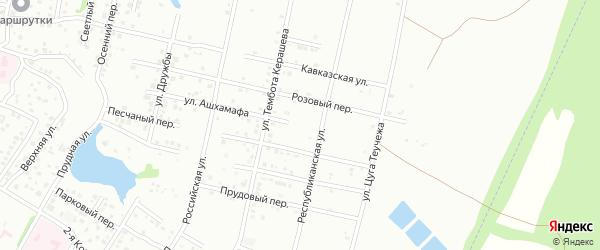 Улица Ашхамафа на карте Майкопа с номерами домов