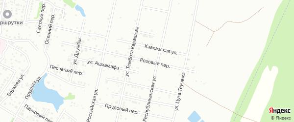 Розовый переулок на карте Майкопа с номерами домов