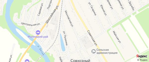 Московская улица на карте Совхозного поселка с номерами домов