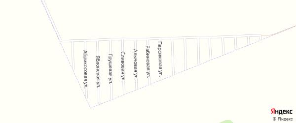 Рябиновая улица на карте садового некоммерческого товарищества Урожая с номерами домов
