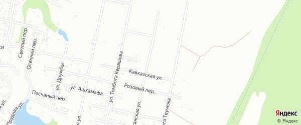 Оштенский переулок на карте Майкопа с номерами домов