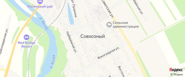Приречная улица на карте Совхозного поселка с номерами домов