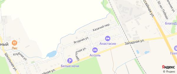 Ягодная улица на карте Тульского поселка с номерами домов
