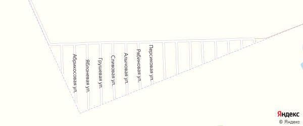 Персиковая улица на карте садового некоммерческого товарищества Урожая с номерами домов