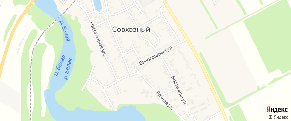 Виноградная улица на карте Совхозного поселка с номерами домов