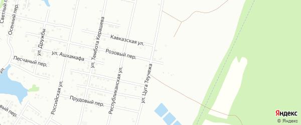 Улица Теучежа на карте садового некоммерческого товарищества Машиностроителя с номерами домов