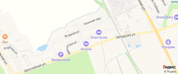 Цветочная улица на карте Тульского поселка с номерами домов