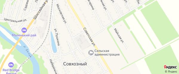 Советская улица на карте Совхозного поселка с номерами домов